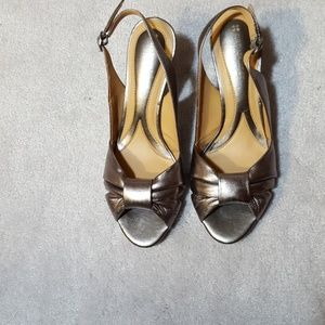 Naturalizer N5 Comfort Lolita Pewter Sandals 7.5 M
